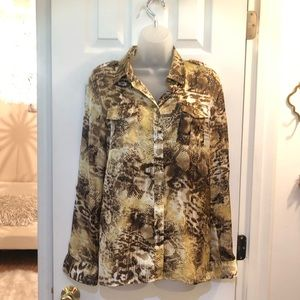 Jones New York Animal Print Career Top